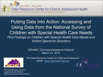 Accessing and Using Data from the NS-CSHCN - Data Resource ...