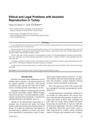 Ethical and Legal Problems with Assisted Reproduction in Turkey