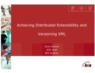 Achieving Distributed Extensibility and Versioning XML