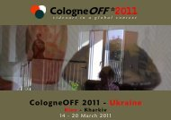 CologneOFF 2011 - videoart in a global context - Downloads