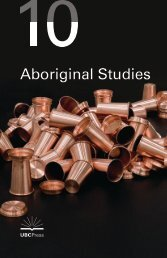 Aboriginal Studies - UBC Press - University of British Columbia