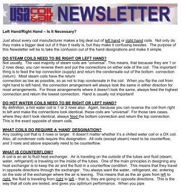 December, 2000 - USA Coil & Air