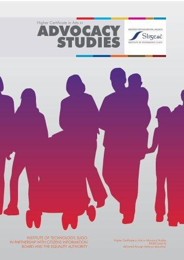 ADVOCACY STUDIES - Citizens Information Board