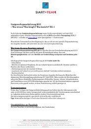 Gastgewerbepauschalierung 2013 - Siart und Team Treuhand GmbH