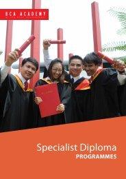 specialist Diploma Programmes - BCA Academy