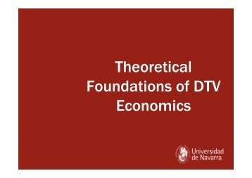 Theoretical Foundations of DTV Economics - OberCom