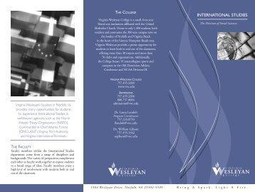 International Studies brochure - Virginia Wesleyan College