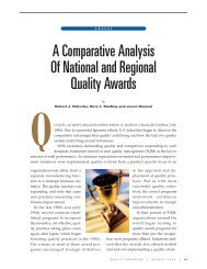 A Comparative Analysis Of National and Regional ... - Quality Texas