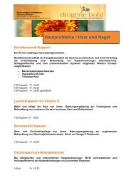 Hautprobleme / Haar und Nagel - Drogerie BOHL