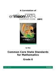 Common Core State Standards for Mathematics - Pearson