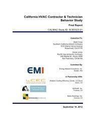 California HVAC Contractor & Technician Behavior Study (1 of 2)
