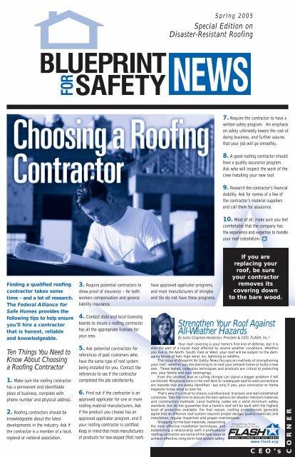 Roofing - Florida Alliance for Safe Homes