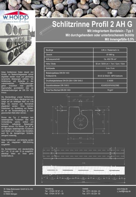Schlitzrinne Profil 2 AH G - Meichle & Mohr GmbH