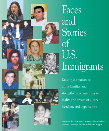 Faces and Stories of U.S. Immigrants - Alliance for a Just Society
