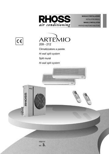 H50131-v03 Manuale Installazione Artemio 209-212 Dual - Rhoss