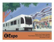 Expo Light Rail Line - Train Riders Association of California
