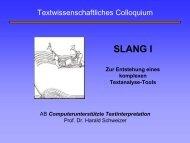 Konstituierung des Textes - Textwissenschaften