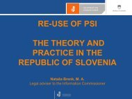 RE-USE OF PSI THE THEORY AND PRACTICE IN THE ... - EPMA