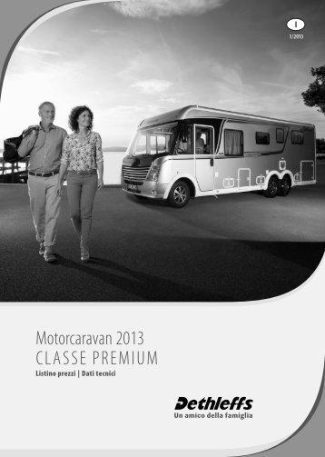 Listino prezzi Motorcaravans Classe Premium 2013 - Dethleffs