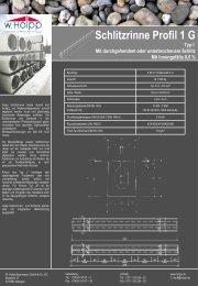 Schlitzrinne Profil 1 G - Meichle & Mohr GmbH