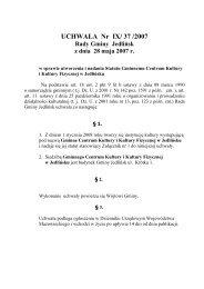 Statut Gminnego Centrum Kultury i Kultury Fizycznej w Jedlińsku