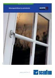 ikkunapainikkeet ja pintahelat - Scanfinn Oy