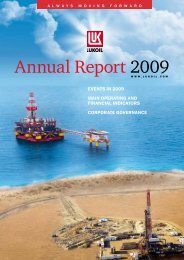 Annual Report 2009 - Lukoil