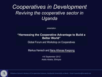 the cooperative movement in Uganda - Division for Social Policy ...