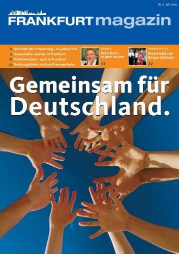 Nr. 3 Juli 2005 - CDU-Kreisverband Frankfurt am Main