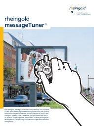 Broschüre message Tuner - Rheingold Salon