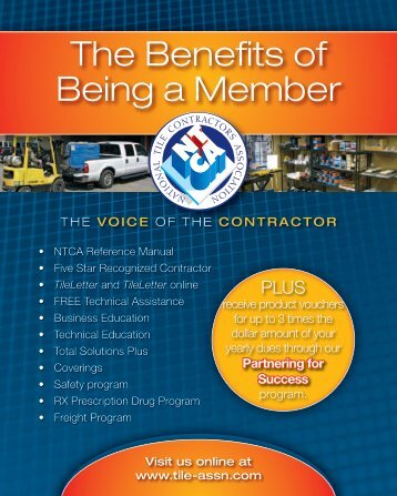 The Benefits of Being a Member - National Tile Contractors ...
