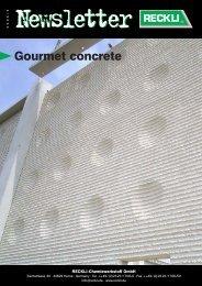 Gourmet concrete - RECKLI GmbH: Home
