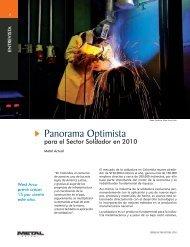 Entrevista Panorama Optimista para el Sector Soldador en 2010