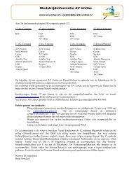 Wedstrijdinformatie AV Unitas