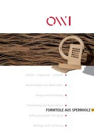 FORMTEILE AUS SPERRHOLZ - OWI GmbH