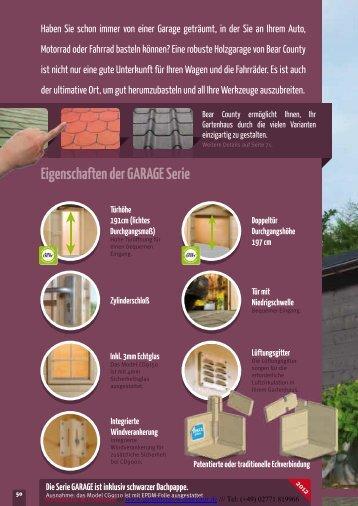 Bear County GARAGEN Serie 2012.pdf - Gartenhaus-wohnkultur.de