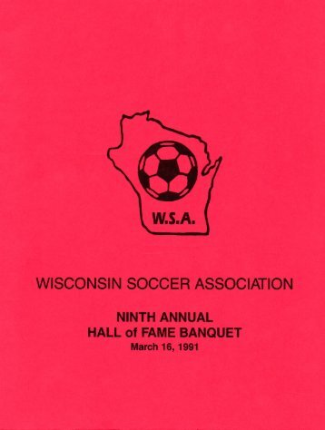 WISCONSIN SOCCER ASSOCIATION - Wisconsin Adult Soccer ...