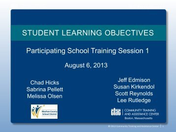 STUDENT LEARNING OBJECTIVES - Washoe County School District