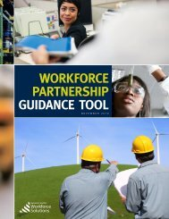 WORKFORCE PARTNERSHIP GUIDANCE TOOL