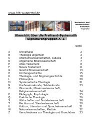 Aufstellungs-Systematik - HLB Wuppertal