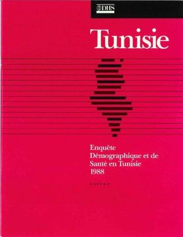 Enquête Démographique et de Santé en Tunisie ... - Measure DHS
