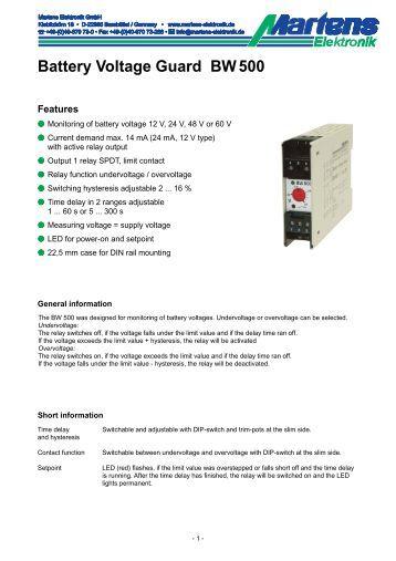 BW500-00- Prospekt - Martens Elektronik GmbH