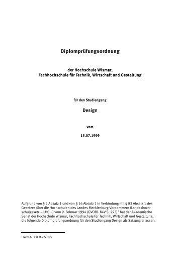 Download - Fakultät Gestaltung der Hochschule Wismar
