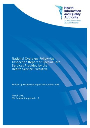 National Overview Follow-Up Inspection Report of Special ... - hiqa.ie