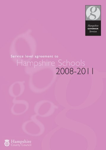 Service level agreement - Hampshire County Council