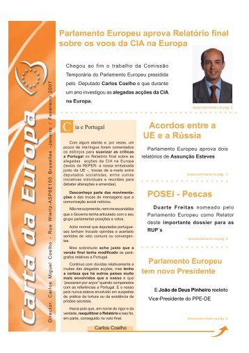 Janeiro/Fevereiro - Carlos Coelho