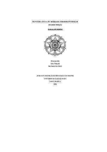 makalah - Teknik Elektro UGM - Universitas Gadjah Mada