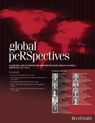 global peRSpectives, Winter 2012 - Reed Smith