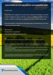 Produção Agropecuária - Banco Votorantim