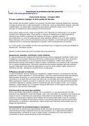 Privacy e pubblico impiego: le linee guida del Garante - ufficiale ...